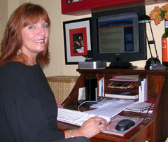 Colleen at desk